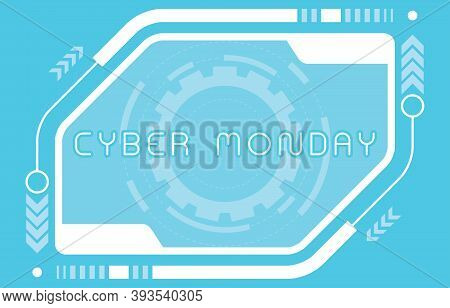 Cyber Monday Sale Background Or Cyber Monday Discount Banner. Special Offer Sale Tag Discount, Retai