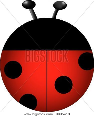 Red lady bug drawn for a personal icon collection. poster