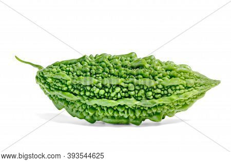 Bitter Gourd Or Bitter Melon Or Momordica Charantia Isolated On White Background