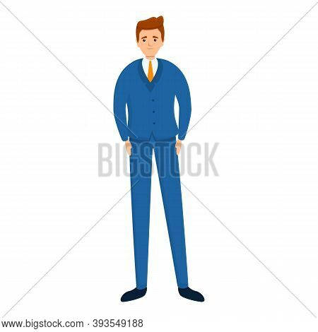 Successful Businessman Strong Icon. Cartoon Of Successful Businessman Strong Vector Icon For Web Des