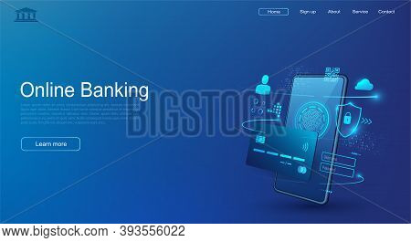 Mobile Phone And Internet Banking. Secure Online Payments By Credit Card. Wireless Money Transaction