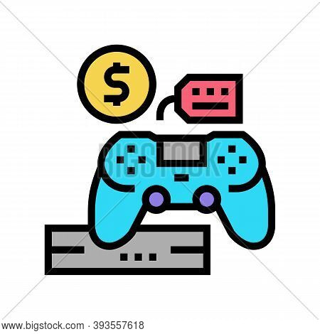 Game Device Rental Color Icon Vector. Game Device Rental Sign. Isolated Symbol Illustration