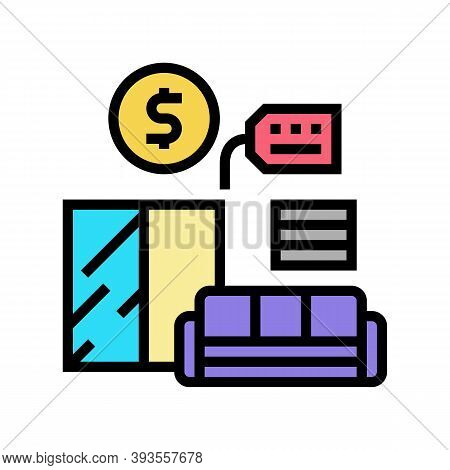 Furniture Rental Color Icon Vector. Furniture Rental Sign. Isolated Symbol Illustration