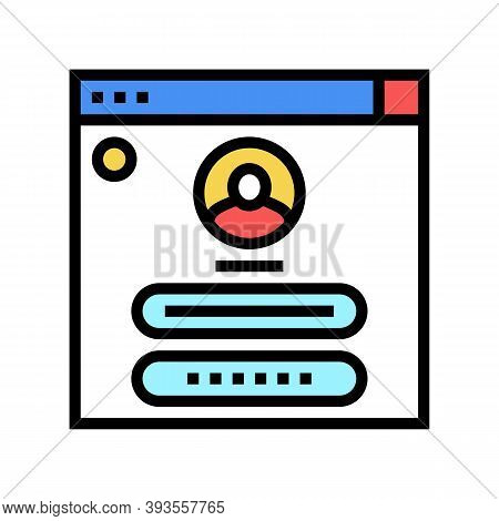 User Identification Color Icon Vector. User Identification Sign. Isolated Symbol Illustration