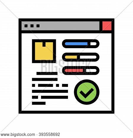 Online Order Tracking Color Icon Vector. Online Order Tracking Sign. Isolated Symbol Illustration