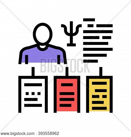 Worker Different Traits Color Icon Vector. Worker Different Traits Sign. Isolated Symbol Illustratio
