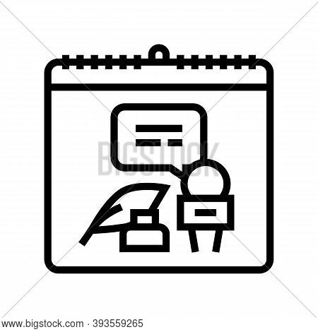World Press Freedom Day Line Icon Vector. World Press Freedom Day Sign. Isolated Contour Symbol Blac