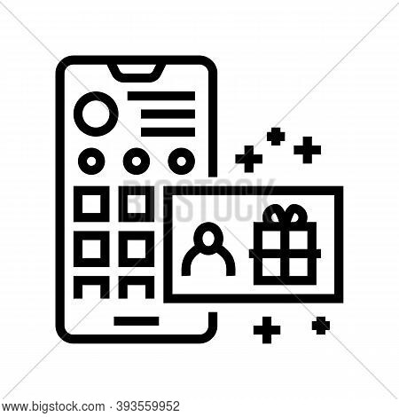 Draw Among Subscribers Line Icon Vector. Draw Among Subscribers Sign. Isolated Contour Symbol Black