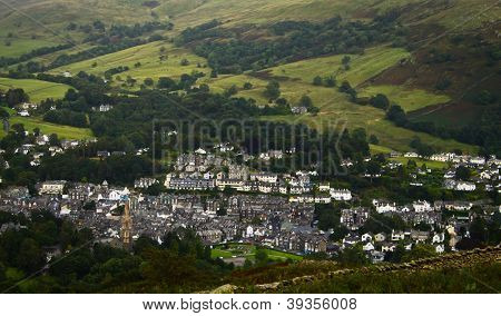 Aerial view of Ambleside