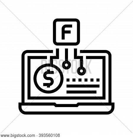 Smm Service Business Line Icon Vector. Smm Service Business Sign. Isolated Contour Symbol Black Illu