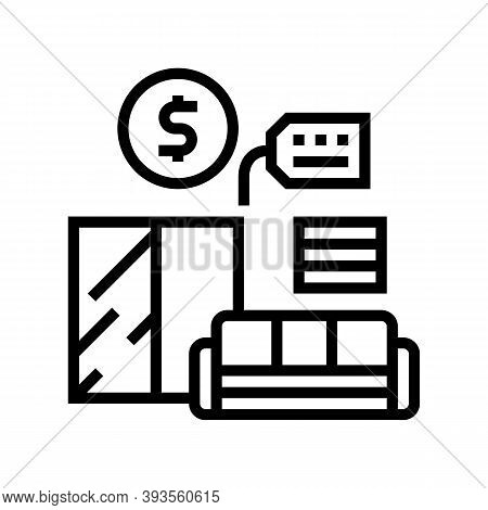 Furniture Rental Line Icon Vector. Furniture Rental Sign. Isolated Contour Symbol Black Illustration