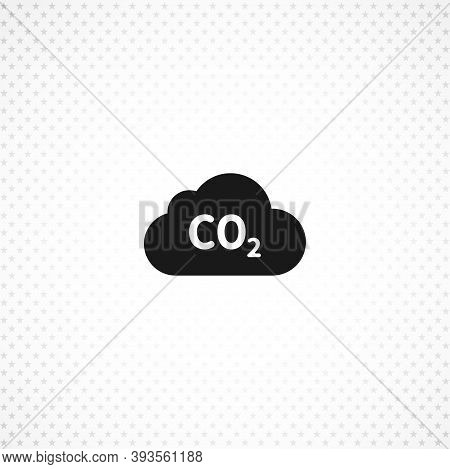 Co2 Icon , Carbon Dioxide Formula Isolated Simple Solid Vector Icon On White Background