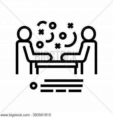Seller And Client Communication Line Icon Vector. Seller And Client Communication Sign. Isolated Con