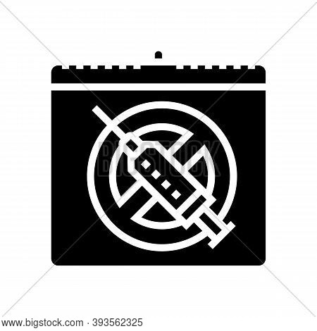 International Day Against Drug Abuse And Trafficking Glyph Icon Vector. International Day Against Dr