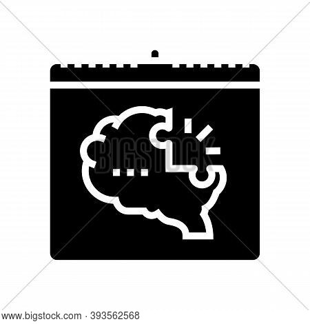 World Schizophrenia Day Glyph Icon Vector. World Schizophrenia Day Sign. Isolated Contour Symbol Bla