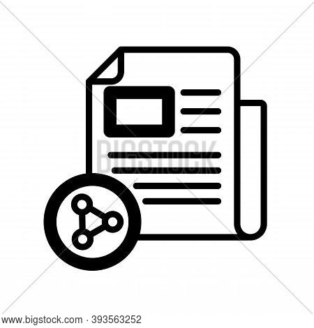 Sharing Icon Isolated On White Background From News And Journal Collection. Modern Sharing Symbol Fo
