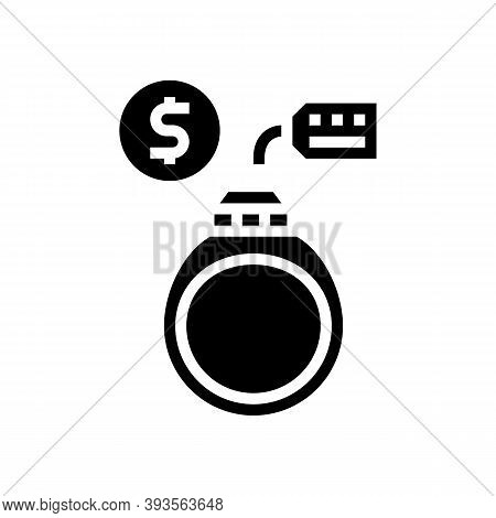 Ring Rental Glyph Icon Vector. Ring Rental Sign. Isolated Contour Symbol Black Illustration