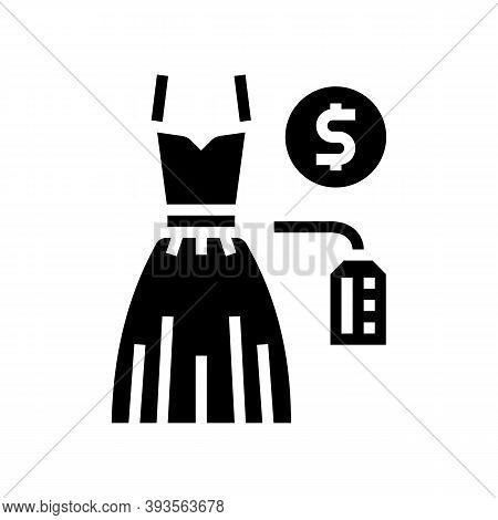 Wedding Dress Rental Glyph Icon Vector. Wedding Dress Rental Sign. Isolated Contour Symbol Black Ill