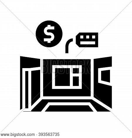 Apartment Rental Glyph Icon Vector. Apartment Rental Sign. Isolated Contour Symbol Black Illustratio