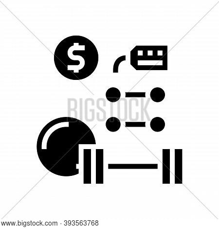 Sport Equipment Rental Glyph Icon Vector. Sport Equipment Rental Sign. Isolated Contour Symbol Black