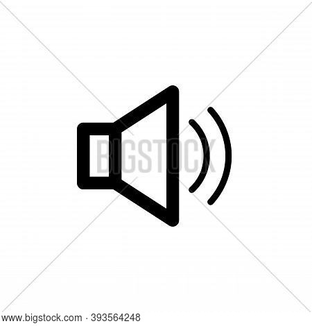 Loud Speaker Icon Isolated On White Background From Music Collection. Modern Loud Speaker Symbol For