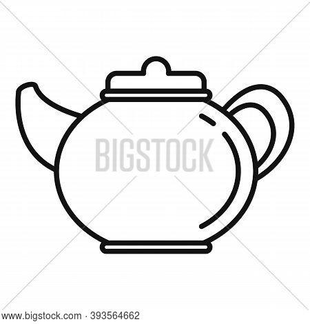 Ceramic Tea Pot Icon. Outline Ceramic Tea Pot Vector Icon For Web Design Isolated On White Backgroun