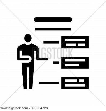 Employee Different Characteristics Glyph Icon Vector. Employee Different Characteristics Sign. Isola