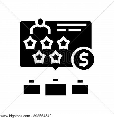 Past Employers Review Glyph Icon Vector. Past Employers Review Sign. Isolated Contour Symbol Black I