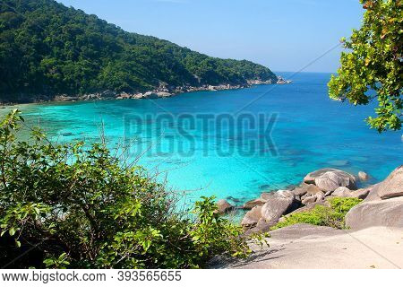 Similan Islands Beach In The Andaman Sea, Top View. Tourism, Asia, Travel.
