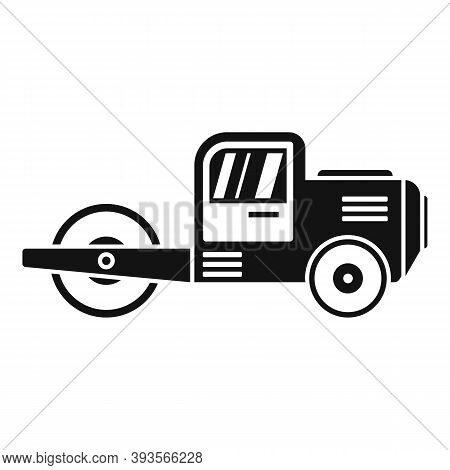 Danger Road Roller Icon. Simple Illustration Of Danger Road Roller Vector Icon For Web Design Isolat