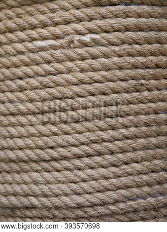 Yellow Rope Wound In A Skein. Light Yellow Rope Wound In A Skein.