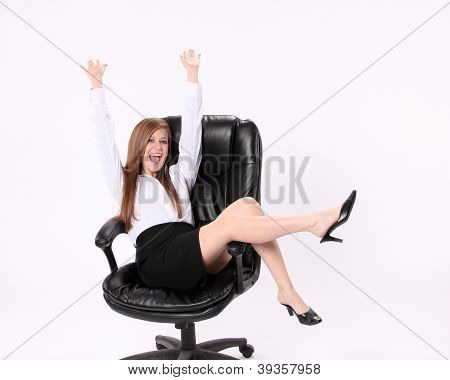 Excited Secretary
