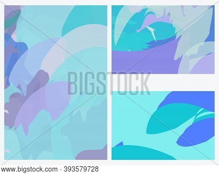 Creative Background In Pastel Shades Editable Vector Templates. Bright Colored With Hand Drawn    Br