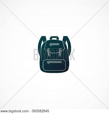 Backpack. Rucksack. Knapsack. Schoolbag. Sack Icon. Isolated Vector Element