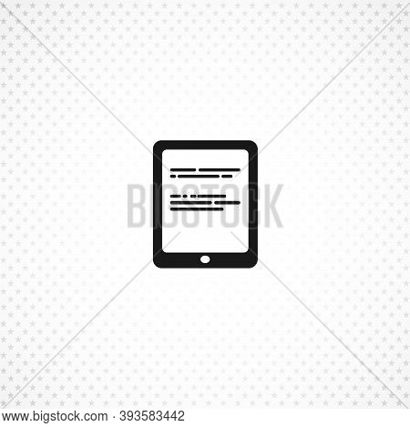 Ebook Isolated Simple Solid Vector Icon On White Background