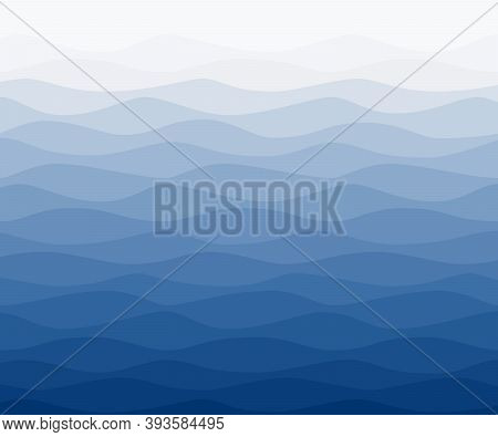 Sea Water Wavy Blue Gradients Nautical Background