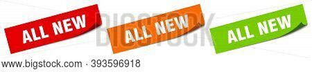 All New Sticker. All New Square Isolated Sign. All New Label