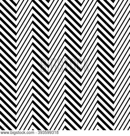 Zigzag Lines Seamless Pattern. Angled Jagged Stripes Ornament. Linear Waves Motif. Curves Print. Str