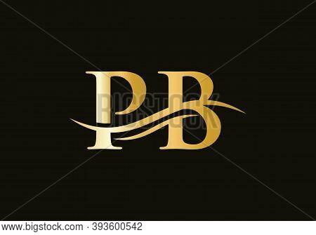 Pb Modern Creative Unique Elegant Minimal. Pb Initial Based Letter Icon Logo. Pb Logo Design