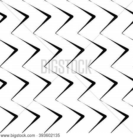 Diagonal Zigzag Lines Seamless Pattern. Angled Jagged Stripes Ornament. Linear Waves Motif. Tilted B