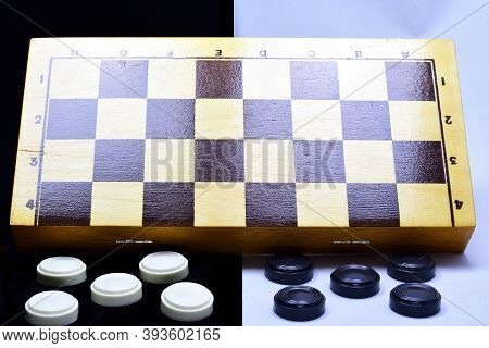 The Composition Of A Chess Board, Checkers, Black And White, Black White Background