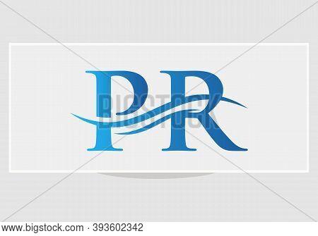 Pr Logo Design. Pr Modern Creative Unique Elegant Minimal. Pr Initial Based Letter Icon Logo.