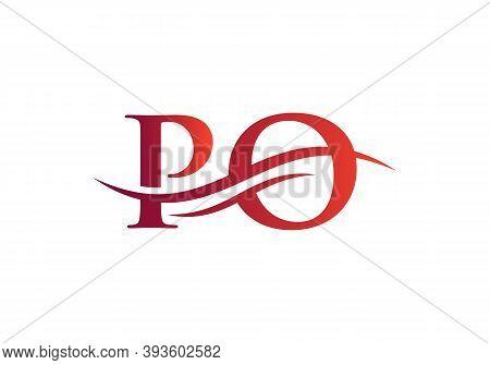 Premium Po Logo Design Based On Letter. Po Logo Design