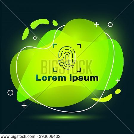 Black Fingerprint Icon Isolated On Black Background. Id App Icon. Identification Sign. Touch Id. Abs