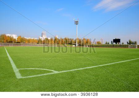Stadium Over A Blue Sky