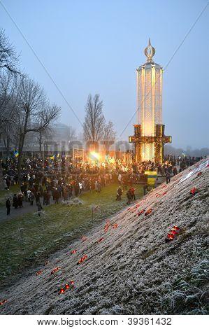 Kiev, Ukraine - Nov 24: 79Th Anniversary Of Holodomor Marks In Kiev, Ukraine On November 24, 2012