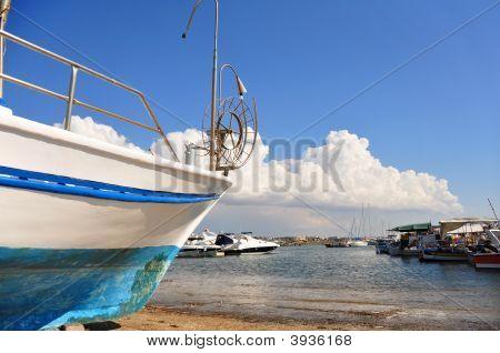 Old Fishing Boat Dry-Dock