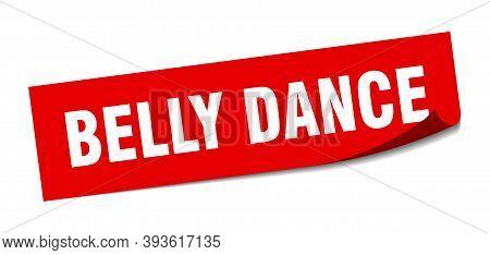 Belly Dance Sticker. Belly Dance Square Sign. Belly Dance. Peeler