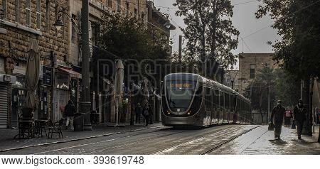 Jerusalem, Israel - November 5th, 2020: A Winter Morning In Jerusalem, Israel. Shops Are Closed Due