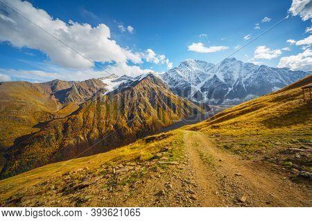 Major mountain range of the Caucasus Mountains.Elbrus Region, North Caucasus, Russia